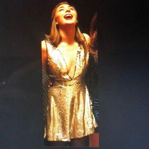 Gold sequent dress